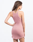 Back View of Ribbed Knit Dress