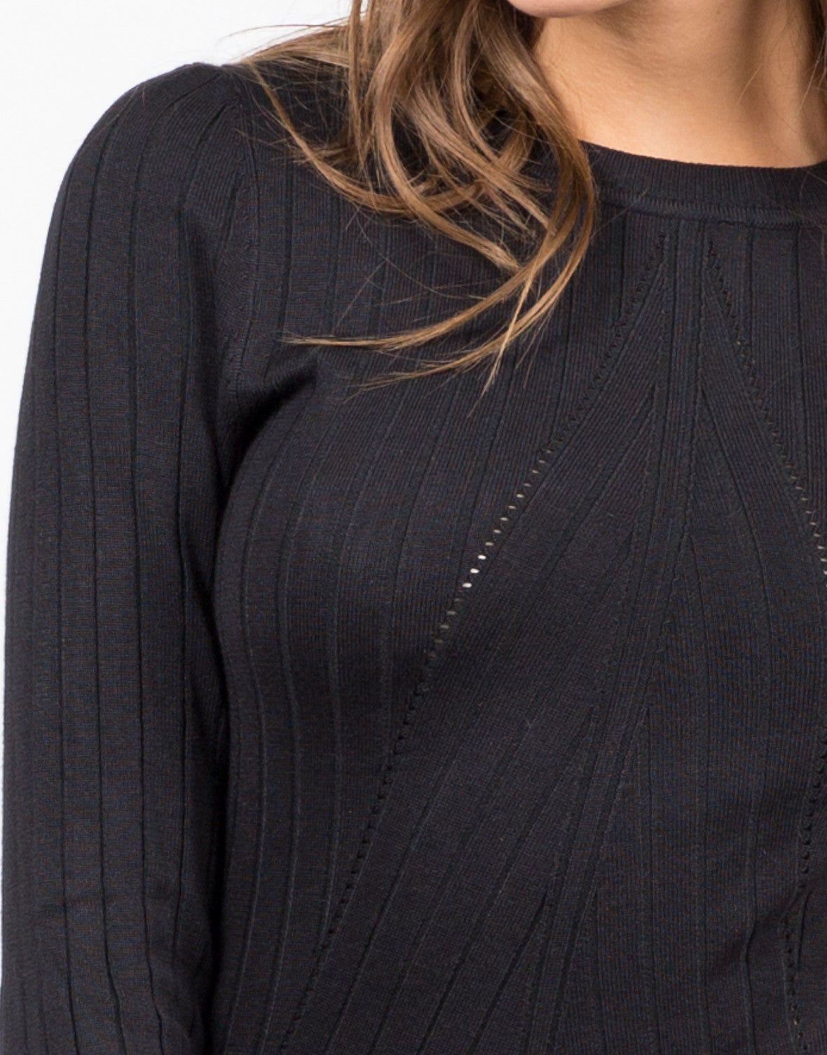 Detail of Ribbed Knit Midi Dress