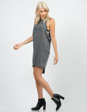 Side View of Ribbed Knitted Open Sides Dress