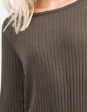 Detail of Ribbed Long Sleeve Romper