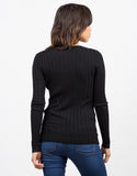 Back View of Ribbed L/S Top