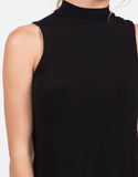 Detail of Ribbed Mock Neck Tank Top