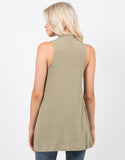 Back View of Ribbed Mock Neck Tank Top
