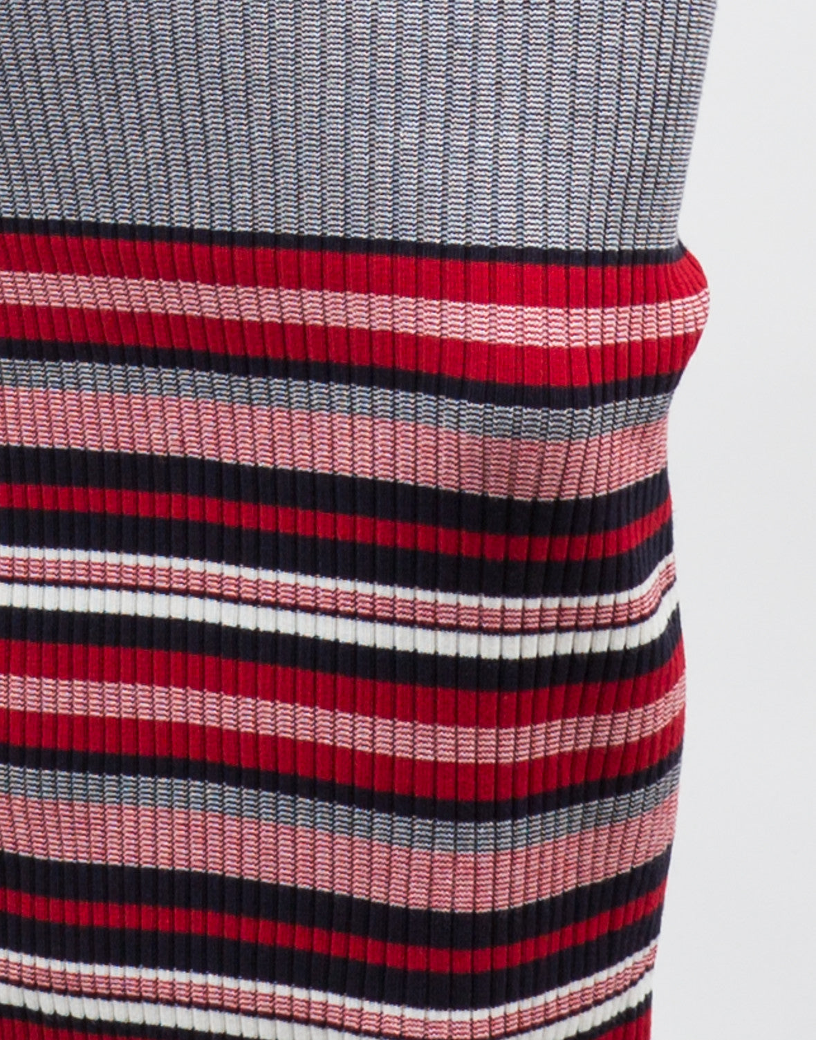 Detail of Ribbed Multi Knit Maxi Dress