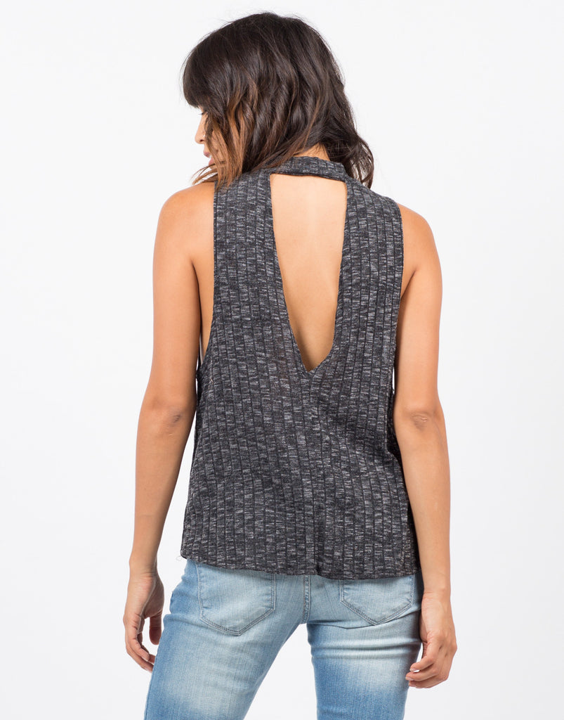 Ribbed Open Back Top - 2020AVE