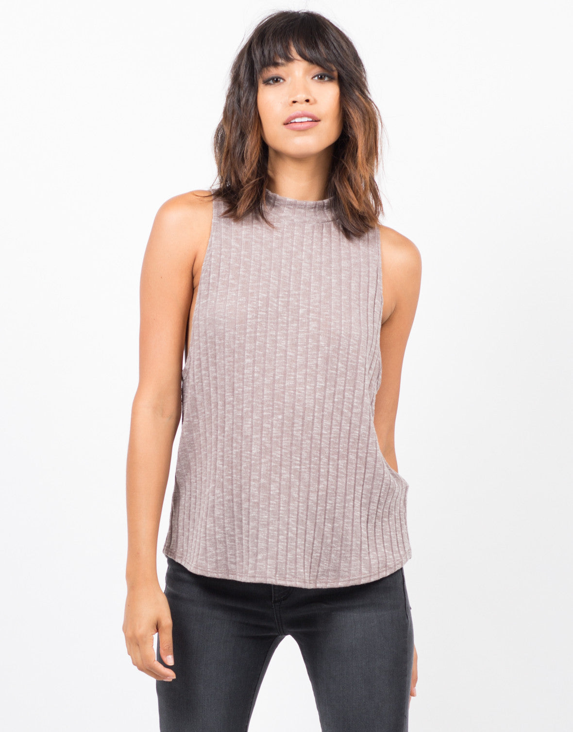 Ribbed Open Back Top