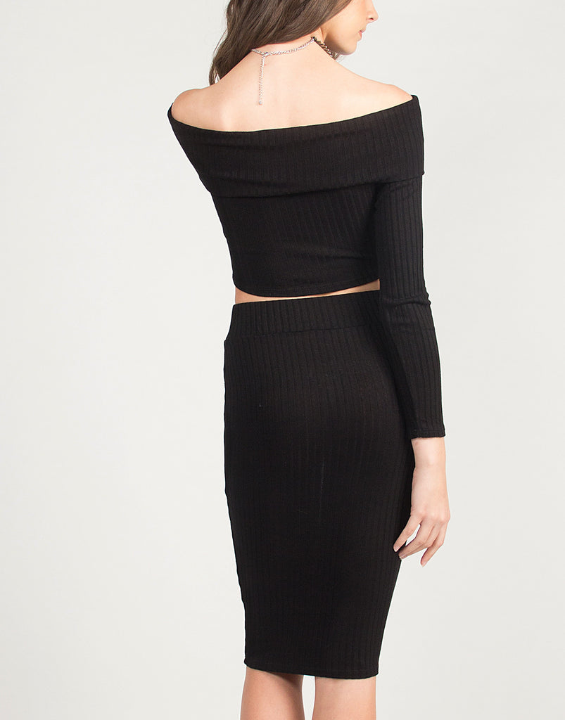Ribbed Pencil Skirt - 2020AVE