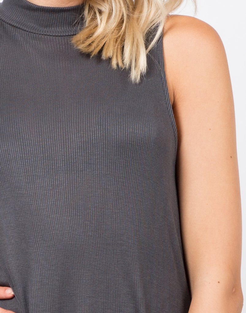 Ribbed Shift Tunic Top - 2020AVE