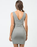 Back View of Ribbed Stripe Dress
