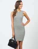 Front View of Ribbed Stripe Dress