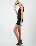 Side View of Ribbed Tank Dress