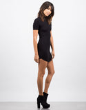 Side View of Ribbed T-Shirt Dress