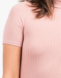 Detail of Ribbed T-Shirt Dress
