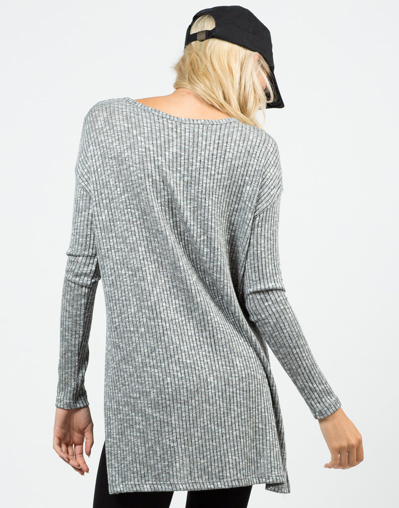 Ribbed Tunic Top - 2020AVE