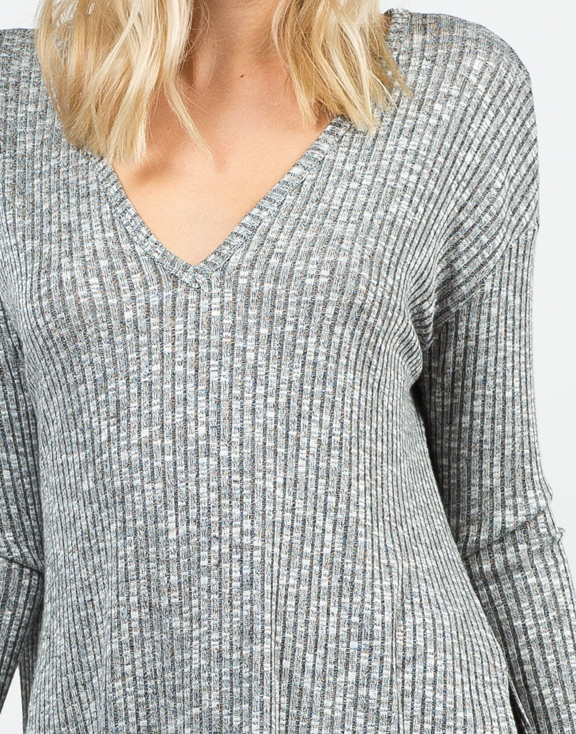 Detail of Ribbed Tunic Top