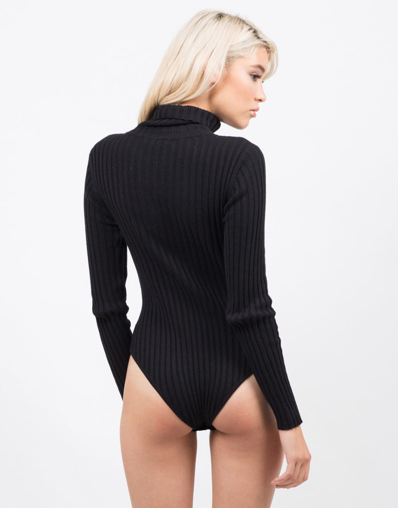 Ribbed Turtleneck Bodysuit - 2020AVE
