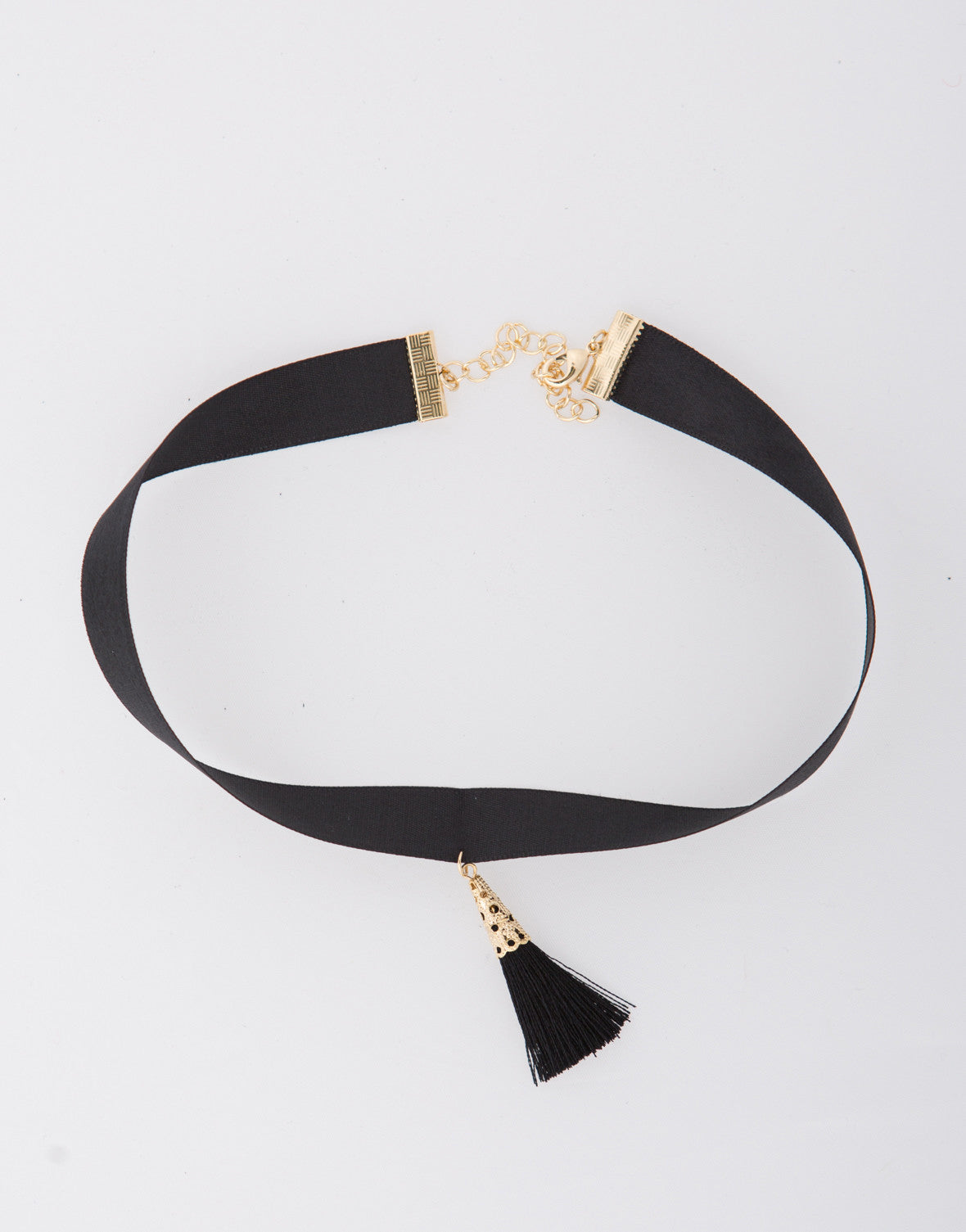 Ribbon Tassel Choker - 2020AVE