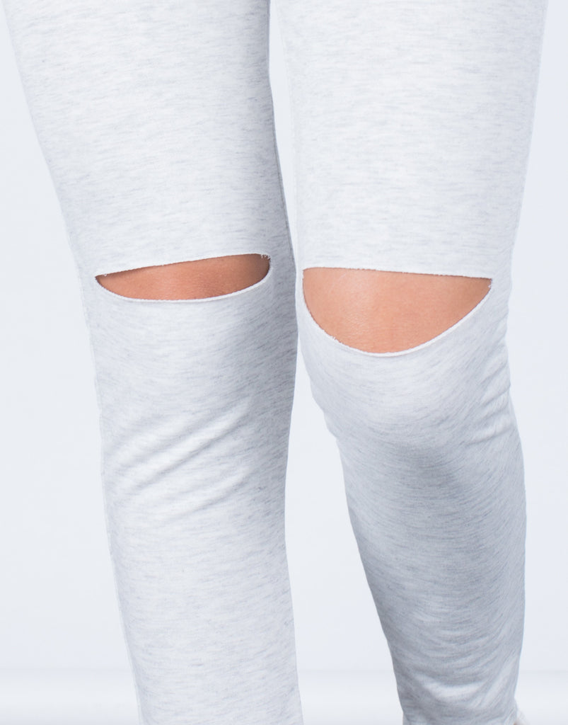Detail of Ripped Knees Joggers