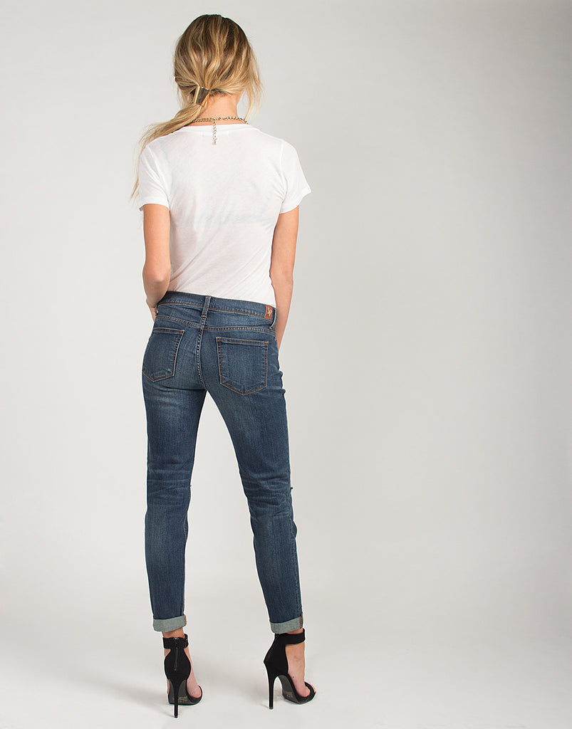Ripped Knees Boyfriend Jeans - 2020AVE