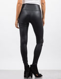 Back View of Ripped Knees Leather Leggings