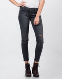 Front View of Ripped Knees Skinny Jeans
