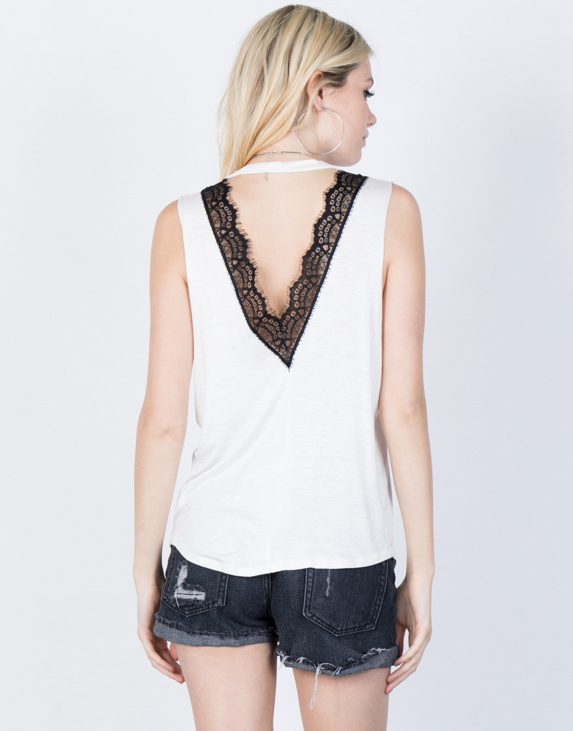 Back View of Rock Out Rosey Tank
