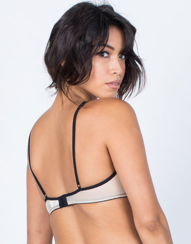Back View of Romance Me Lacey Bralette