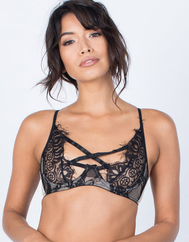 Front View of Romance Me Lacey Bralette
