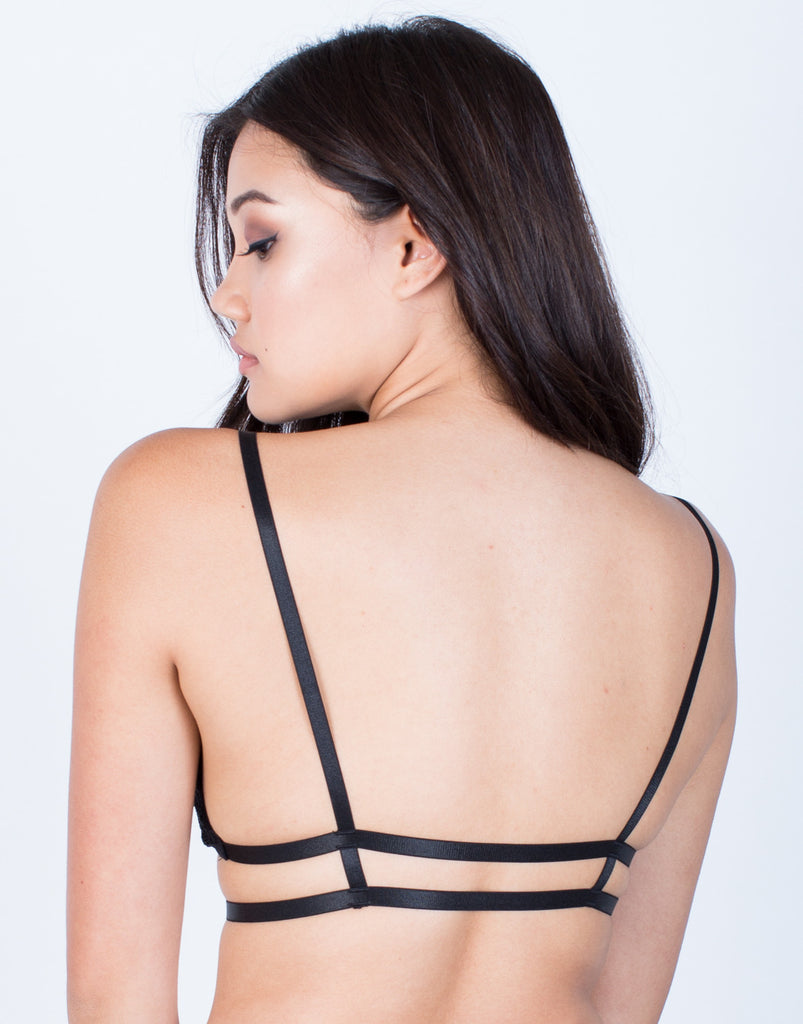 Back View of Romantic Caged Bralette