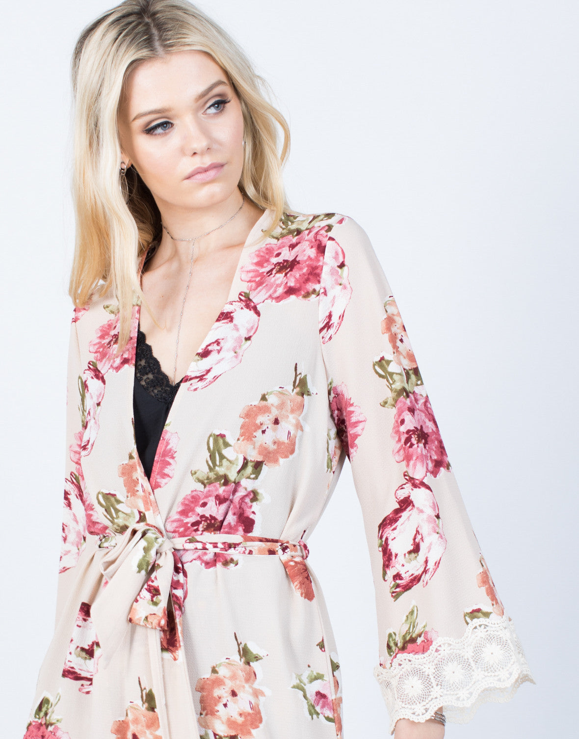Detail of Romantic Floral Robe