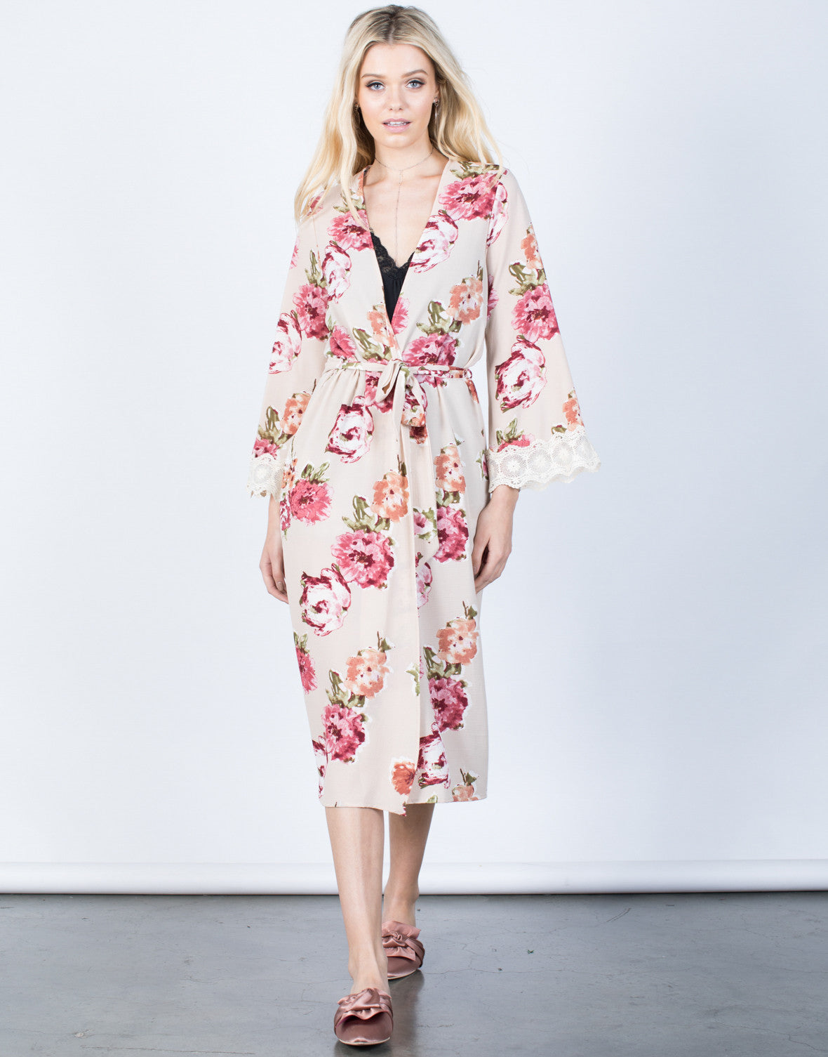 Romantic Floral Robe - 2020AVE