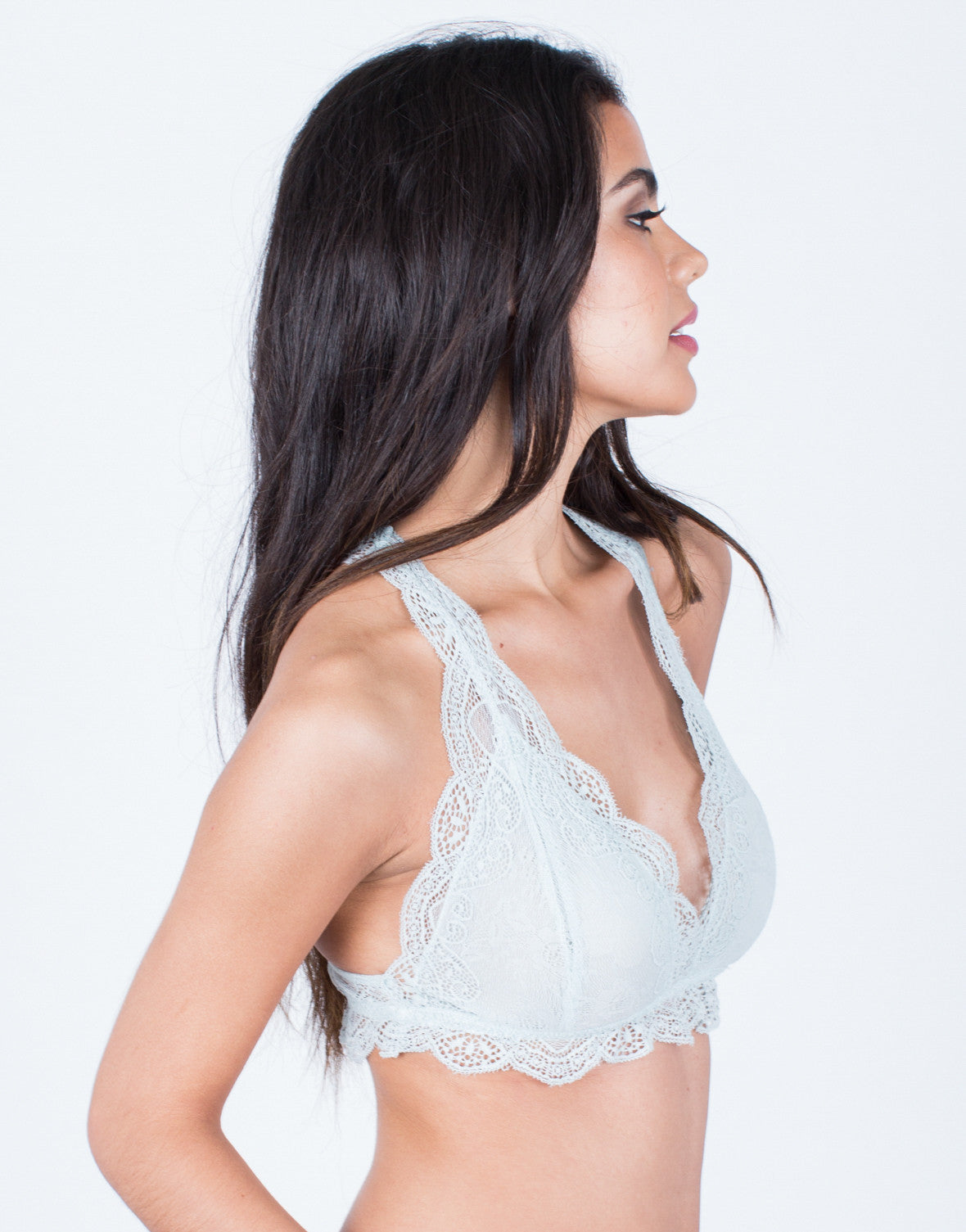 Side View of Romantic Lacey Bralette