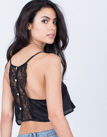 Detail of Romantic Lacey Crop Top