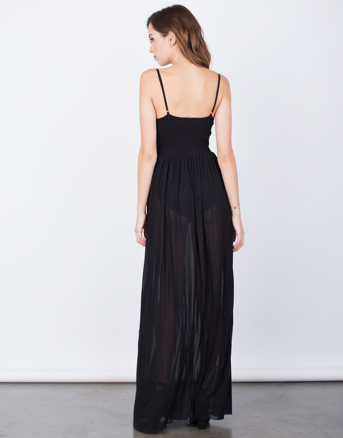 Back View of Romantic Maxi Dress