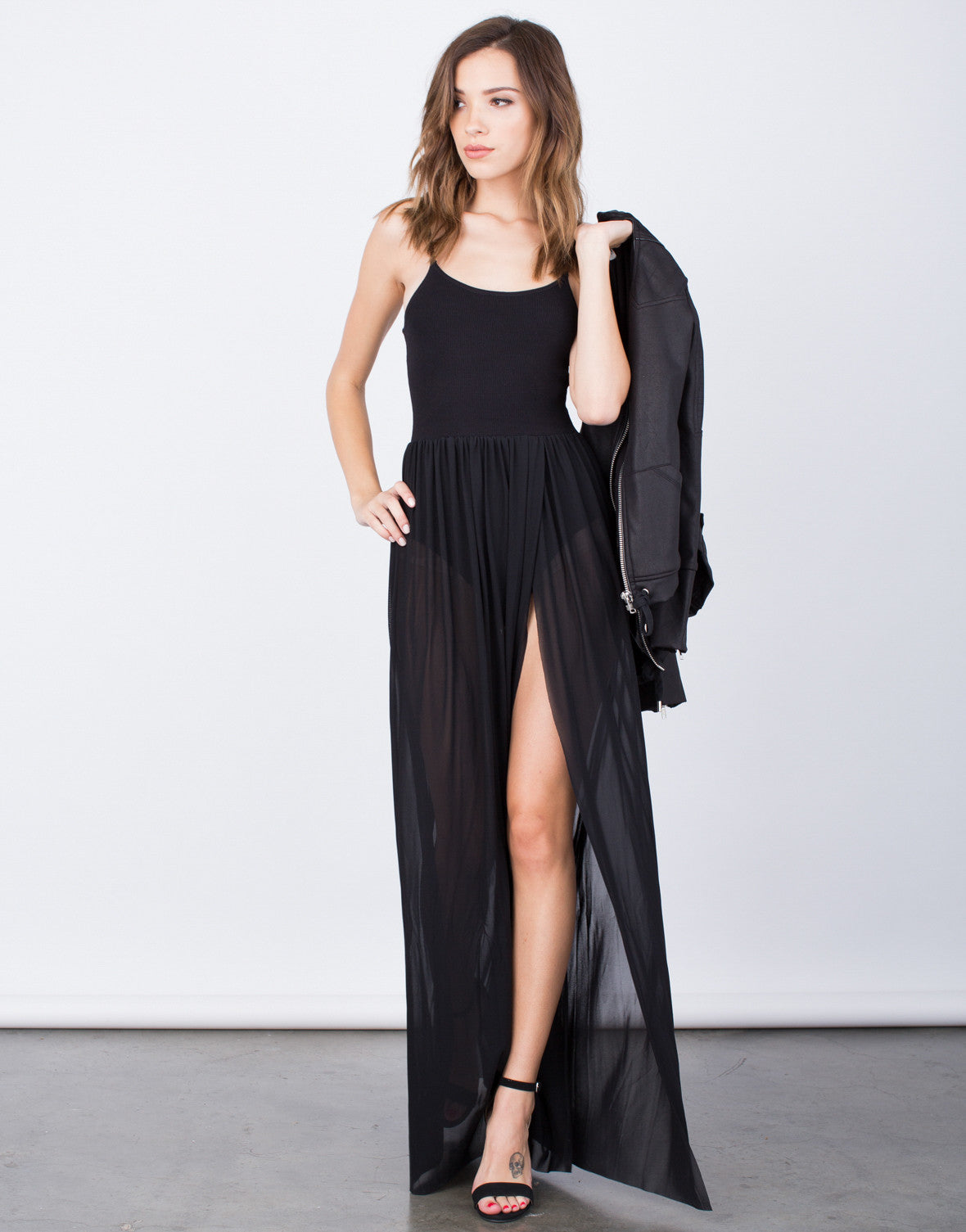 Front View of Romantic Maxi Dress