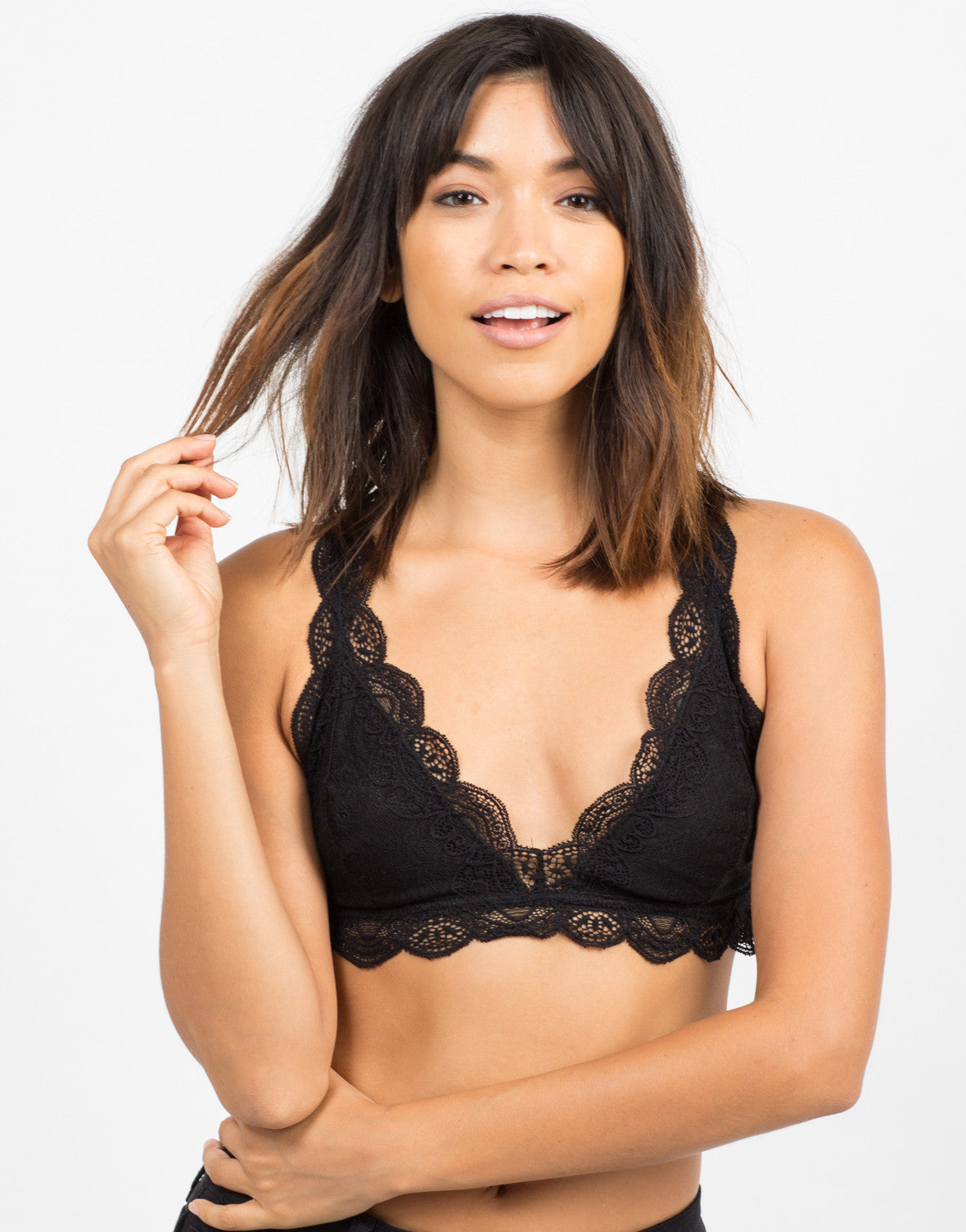 Front View of Romantic Lacey Bralette