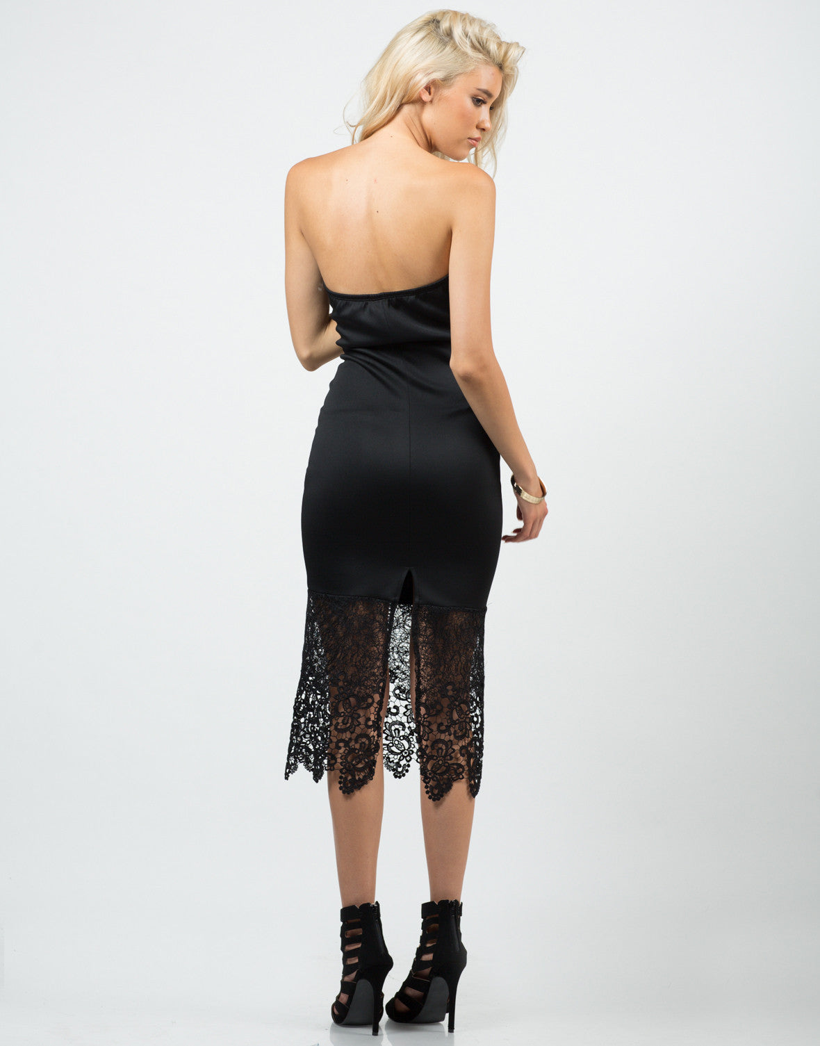 Back View of Romantic Lacey Dress