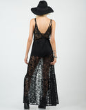 Back View of Romantic Lacey Overlay Dress
