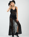 Front View of Romantic Lacey Overlay Dress