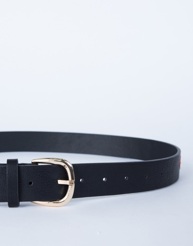 Rose Patched Belt