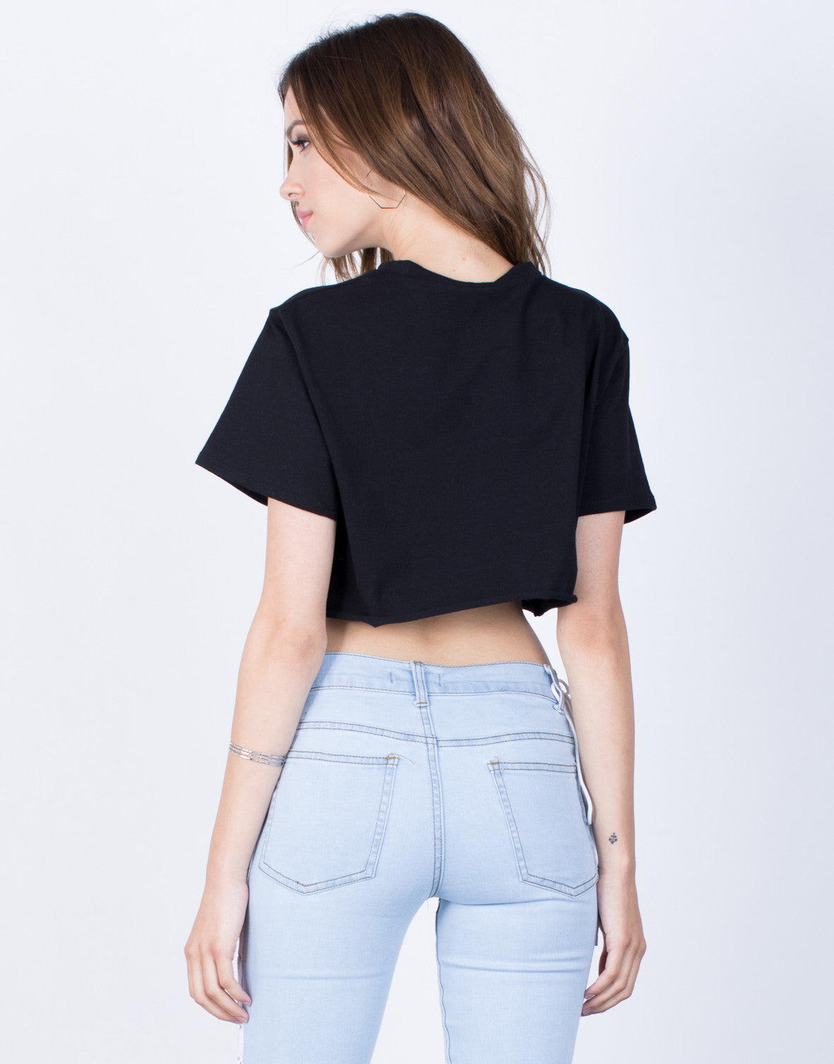 Back View of Rosey Crop Top