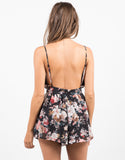 Back View of Rosey Chiffon Romper