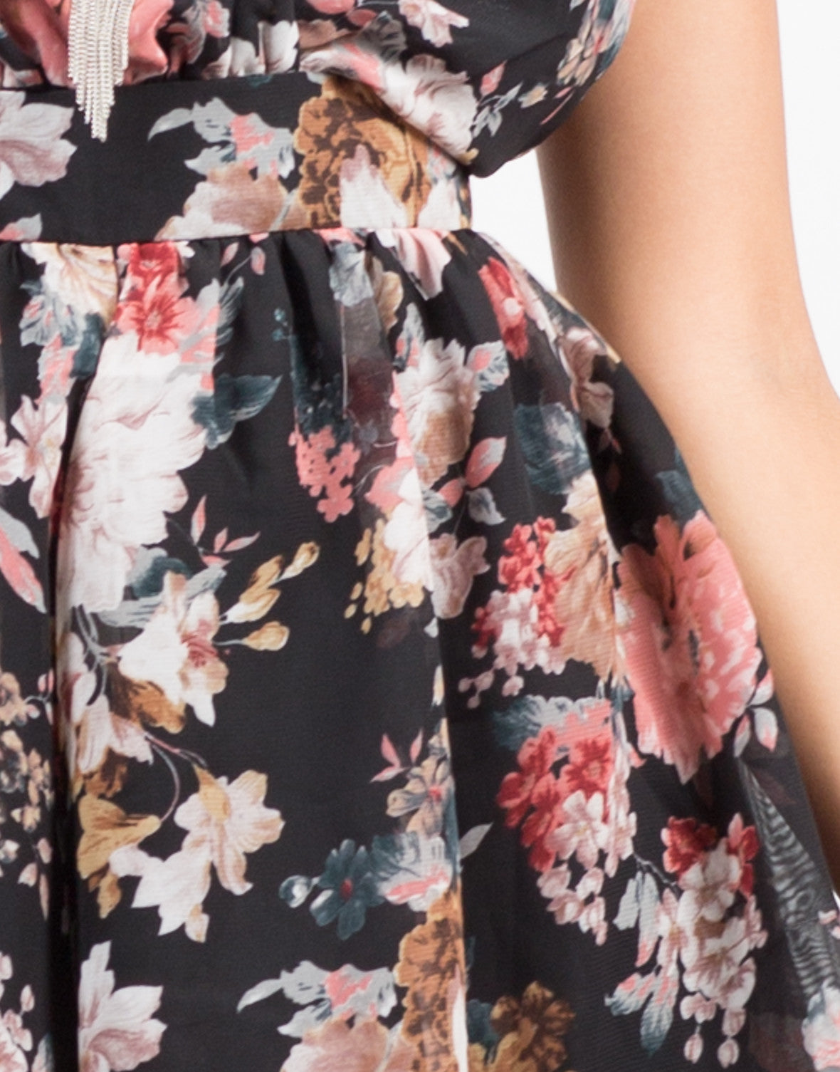 Detail of Rosey Chiffon Romper