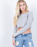 Rough Edges Crop Sweater - 2020AVE