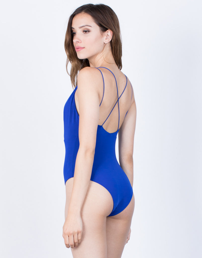 Back View of Roxane Slinky Bodysuit