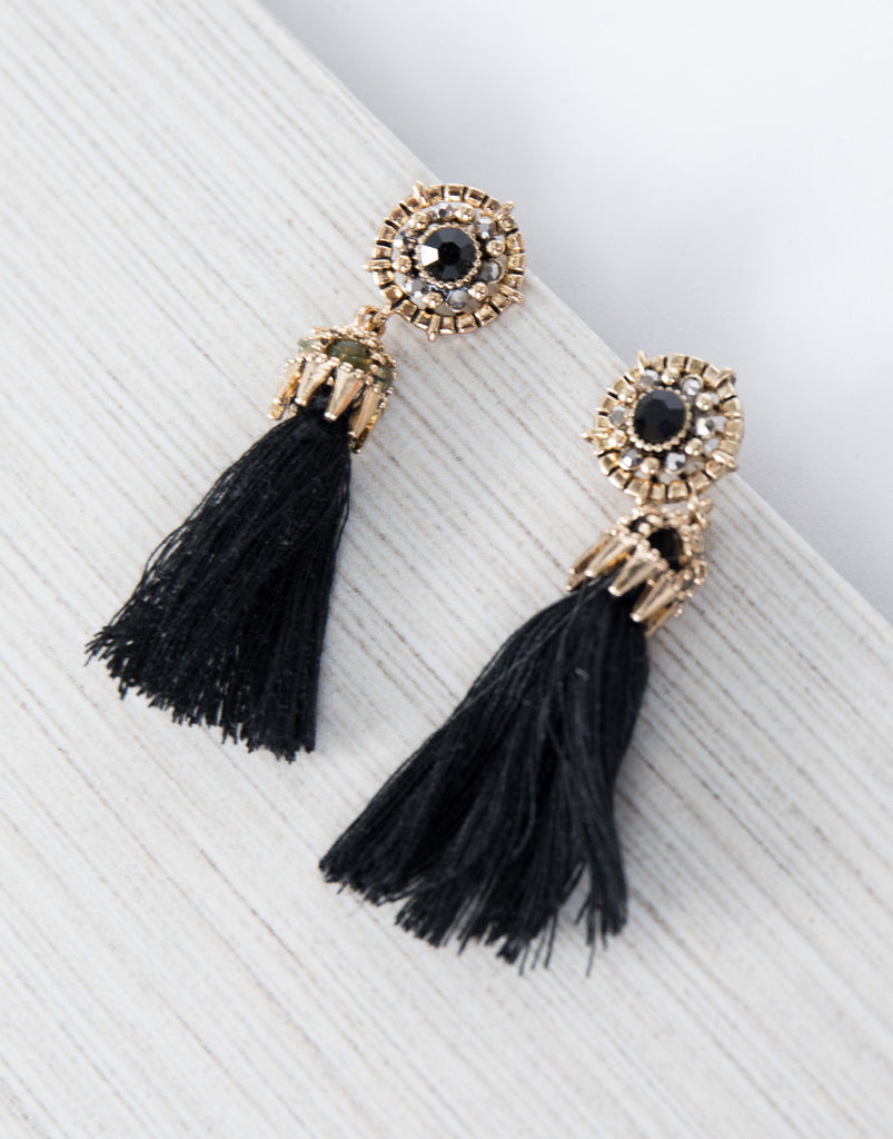 Royalty Tassel Earrings