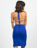 Back View of Ruched Halter Dress