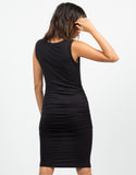 Back View of Ruched Tank Dress