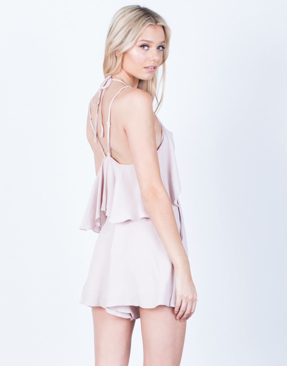 Back View of Ruffle Around Me Romper