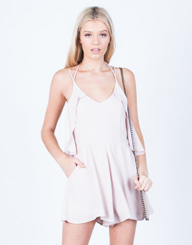 Front View of Ruffle Around Me Romper
